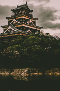 Japanese castle from the old times