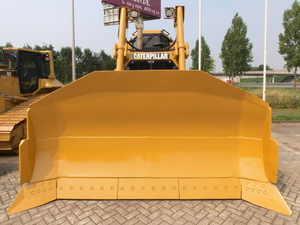 Bulldozer with huge bucket