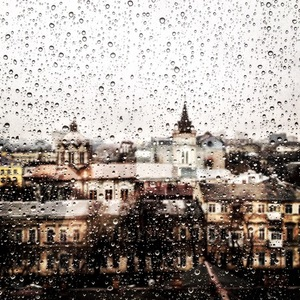 View from rainy window