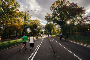 Jogging in Central Park, New York, US