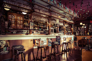 Vintage traditional bar