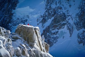 Men on Chamonix mountain