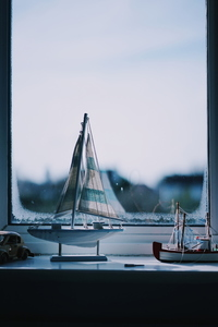 Boat in the window