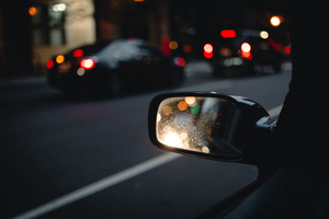 Car's rearview mirror