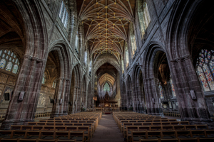 Inside of Chester Cathedral, Chester, UK