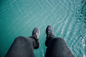Feet above water