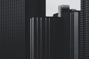 Business buildings in Chicago