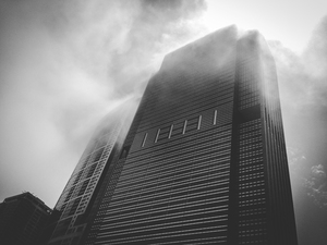 Building in the fog