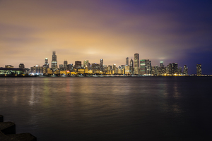Chicago at sundown