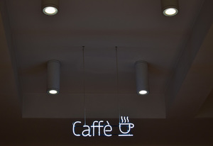 Cafe lighting commercial
