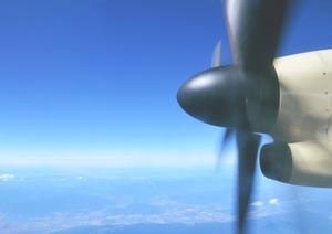 Running airplane's propeller