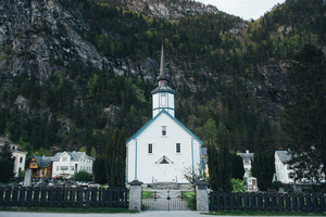 Church at a mountain's foot