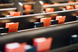 Church books in rows