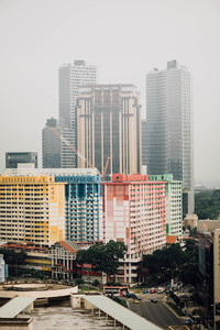 Buildings with colorful facades