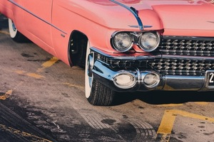 Classic pink Chevrolet