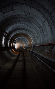 Long metro tunnel