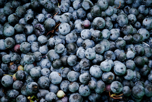 Pilha dos blueberries