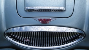 Close-up of Austin-Haley front grille