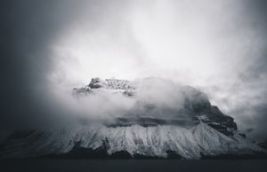 Cloud-shrouded mountain