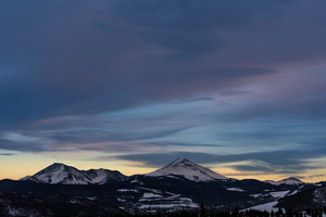 Clouds over Silverthorne mountains