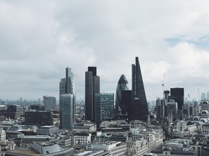 Cloudy London skyline