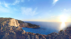 Coastal sunrise at Navagio