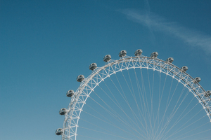 London Eye under blue sky