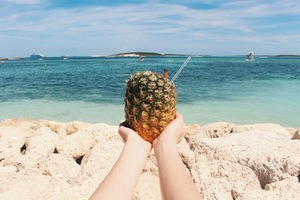 Pineapple in hands
