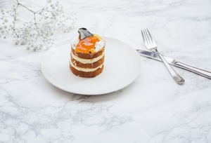 Coconut and papaya cake