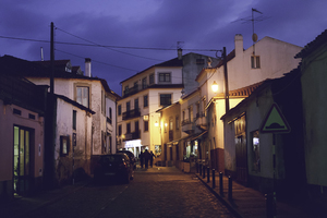 Small street in the evening