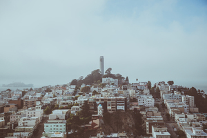 View on Coit Tower, San Francisco