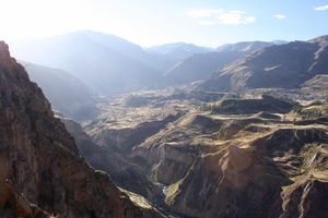 View on Colca Canyon, Chivay, Peru