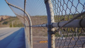Fence by the road