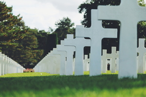 Crosses in Colleville-sur-Mer, France
