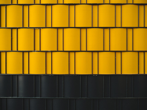 Black and yellow wall