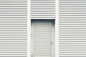 White door and window shades