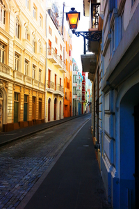 Colorful alleyway
