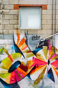 Colorful wall graffiti