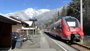 Train stopping at the station