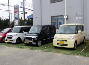 Parked japanese vans