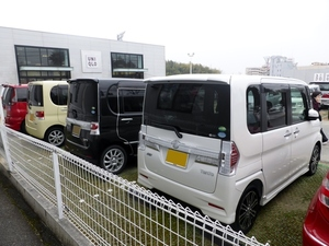Diahatsu vans on parking