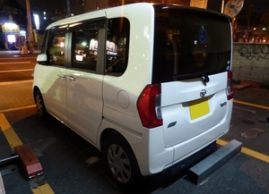 Back view of Daihatsu TanTo X