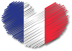 French patriotic heart