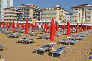 Beach in Lido di Jesolo Italy