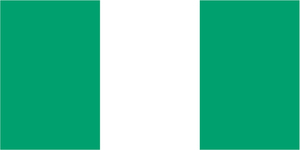 Flag of African state of Nigeria