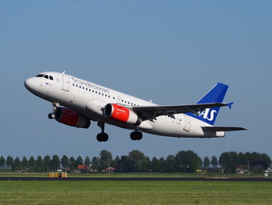 Scandinavian airlines aircraft taking off