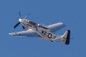 P-51 Mustang Alliance Air Show with pilot