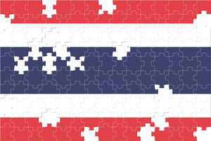 Thailand flag made of puzzles