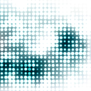 Halftone pattern on color background