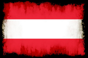 Painted flag of Austria